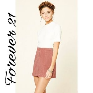 ✨ Women's Pink Corduroy Mini Skirt✨